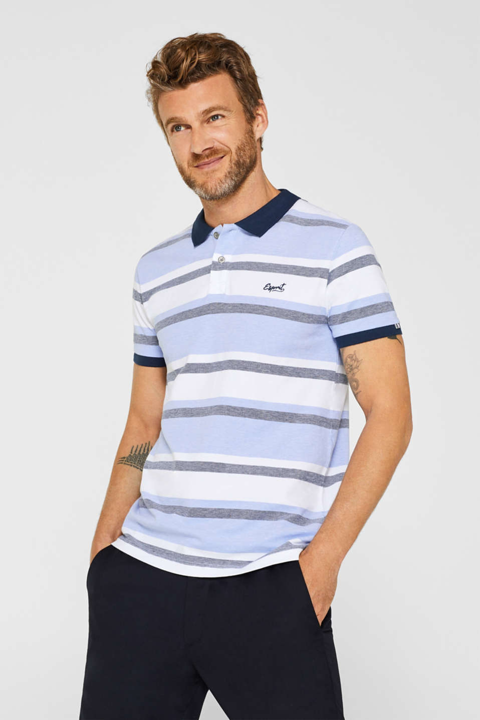 Esprit - Pure cotton piqué polo shirt