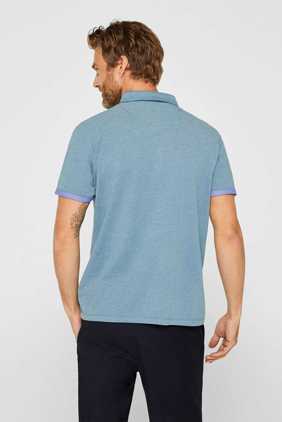 Polo shirts, PETROL BLUE, detail image number 3