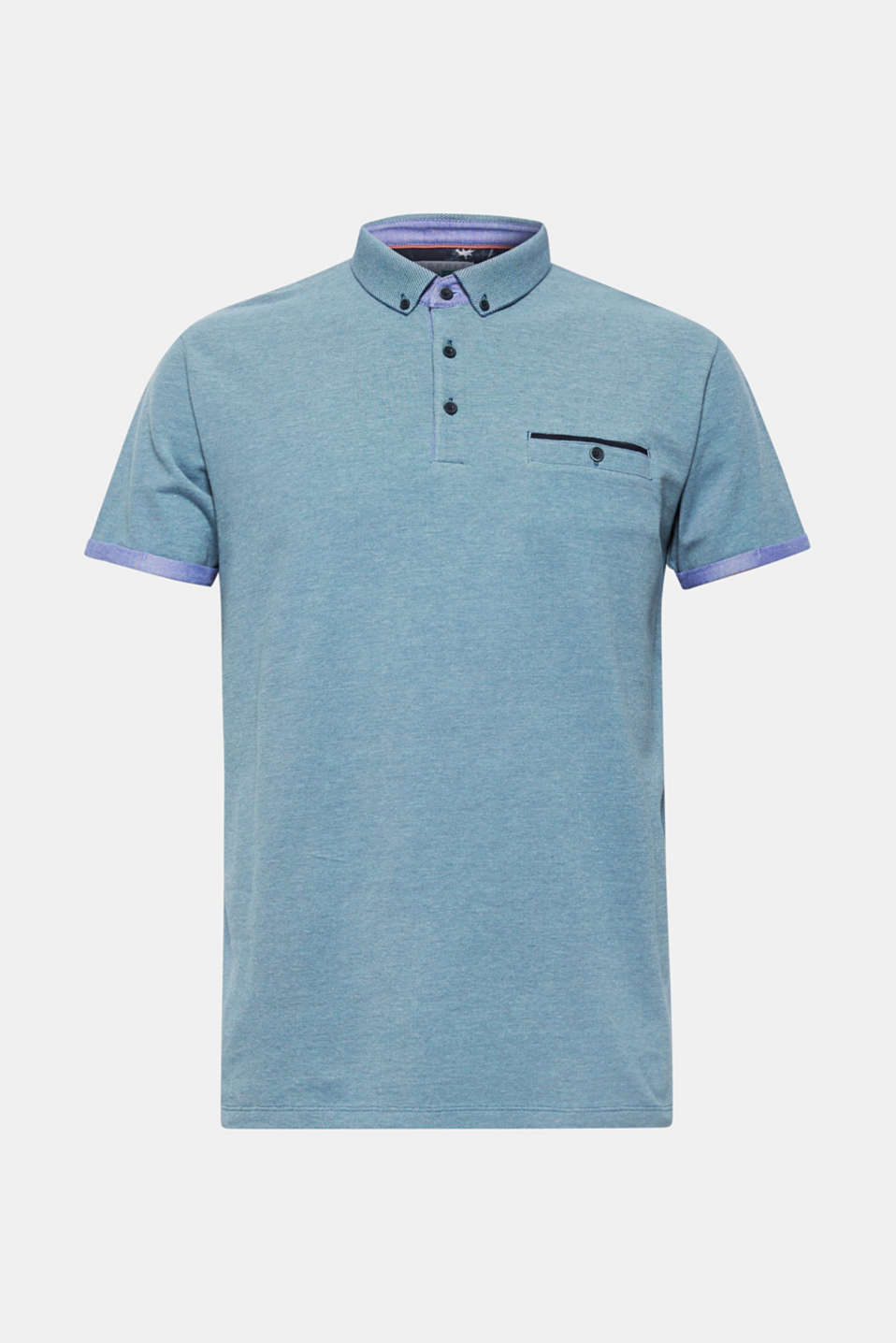 Polo shirts, PETROL BLUE, detail image number 6