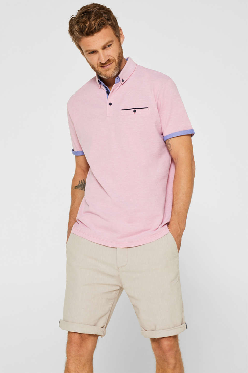 Esprit - Piqué polo shirt in 100% cotton