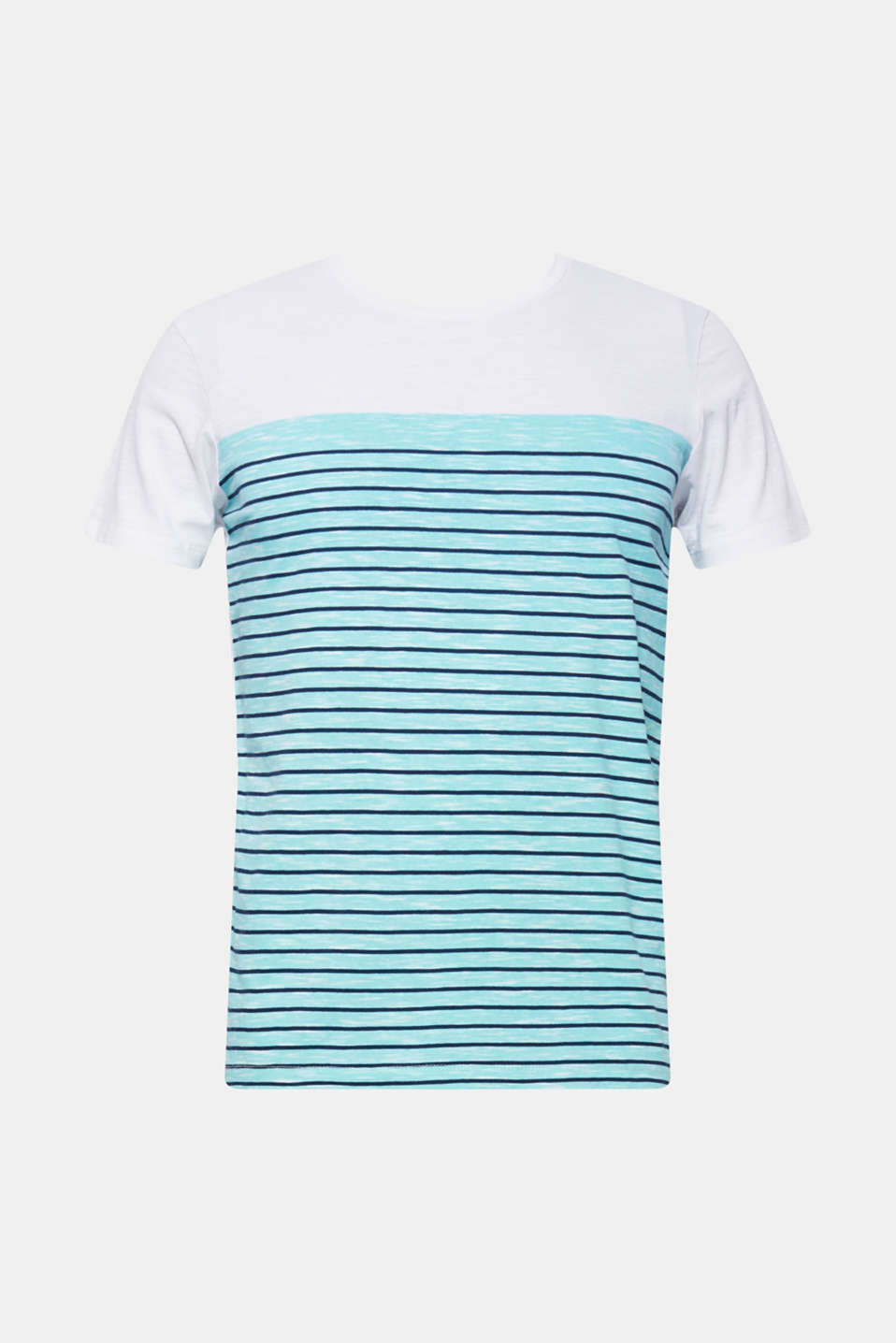 Jersey T-shirt with stripes, 100% cotton, LIGHT AQUA GREEN, detail image number 5