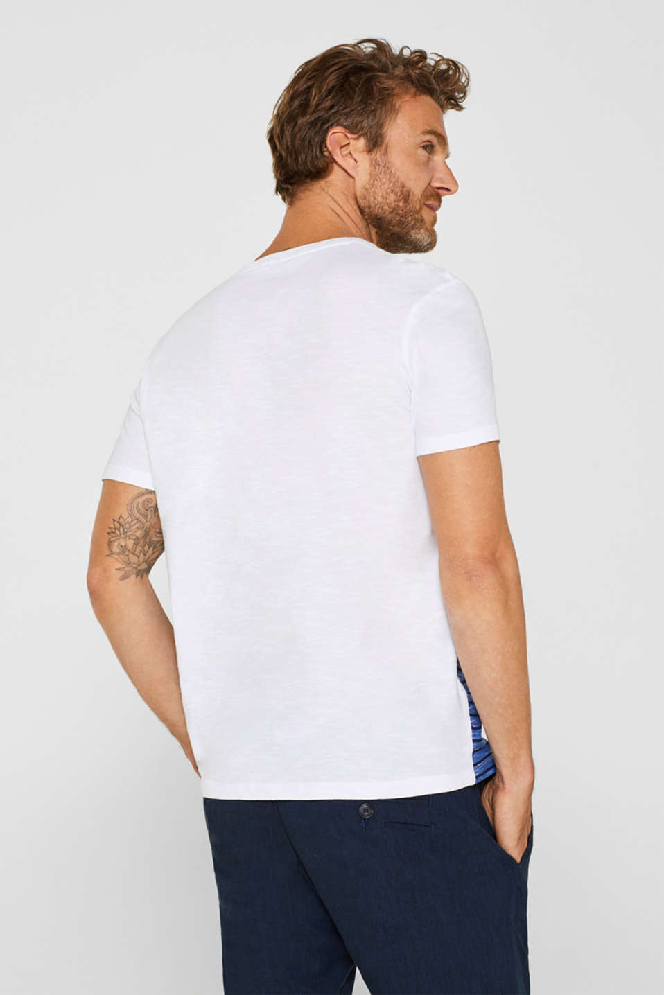 Jersey T-shirt with stripes, 100% cotton, NAVY, detail image number 4