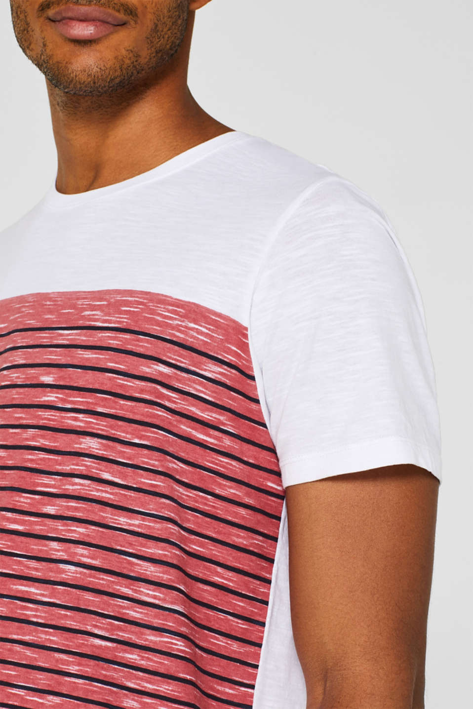 Jersey T-shirt with stripes, 100% cotton, BLUSH, detail image number 1