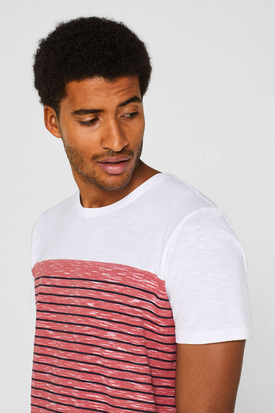 Jersey T-shirt with stripes, 100% cotton, BLUSH, detail image number 6