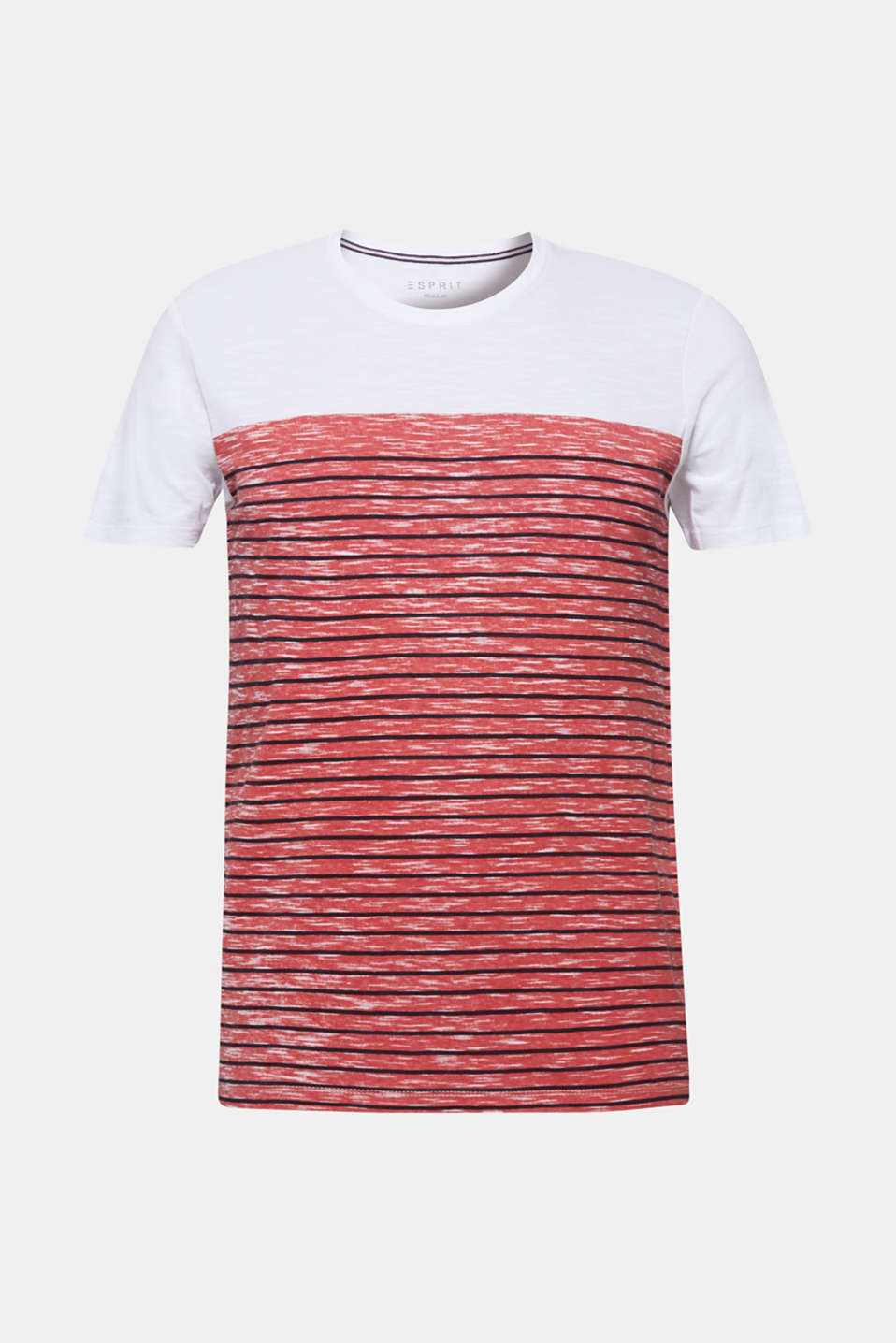 Jersey T-shirt with stripes, 100% cotton, BLUSH, detail image number 7