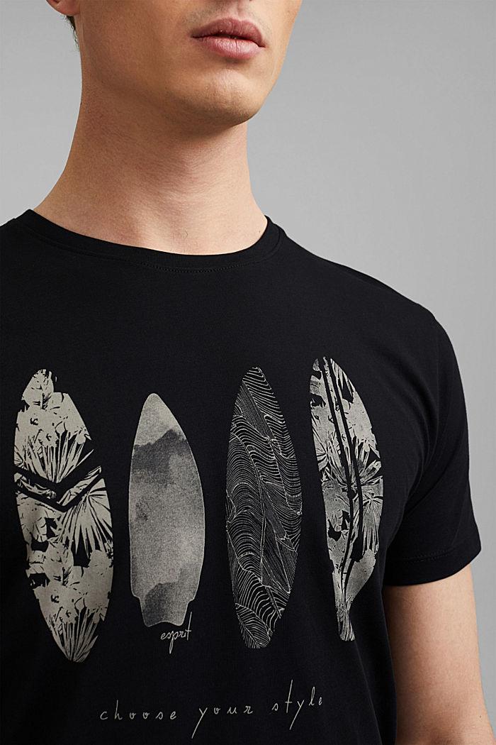 Maglia stampata in 100% cotone, BLACK, detail image number 1