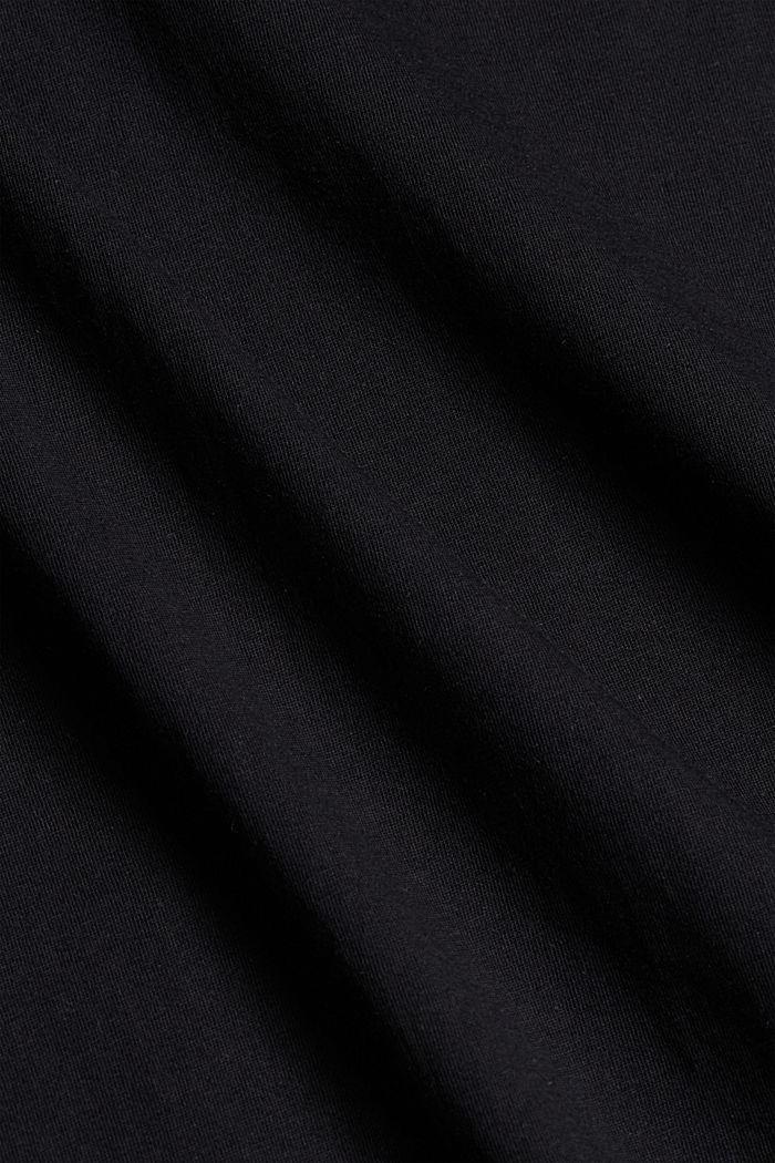 Maglia stampata in 100% cotone, BLACK, detail image number 4