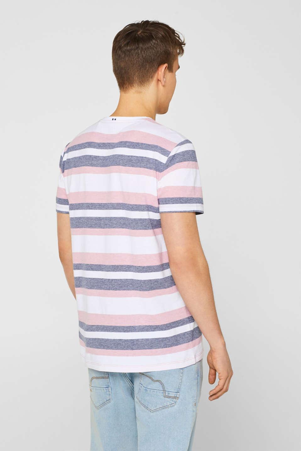 Piqué T-shirt with stripes, BLUSH, detail image number 3
