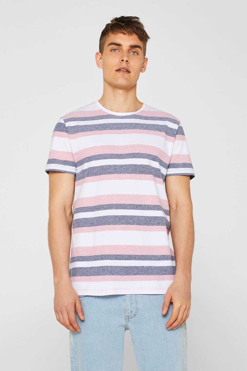 Piqué T-shirt with stripes, BLUSH, detail image number 4