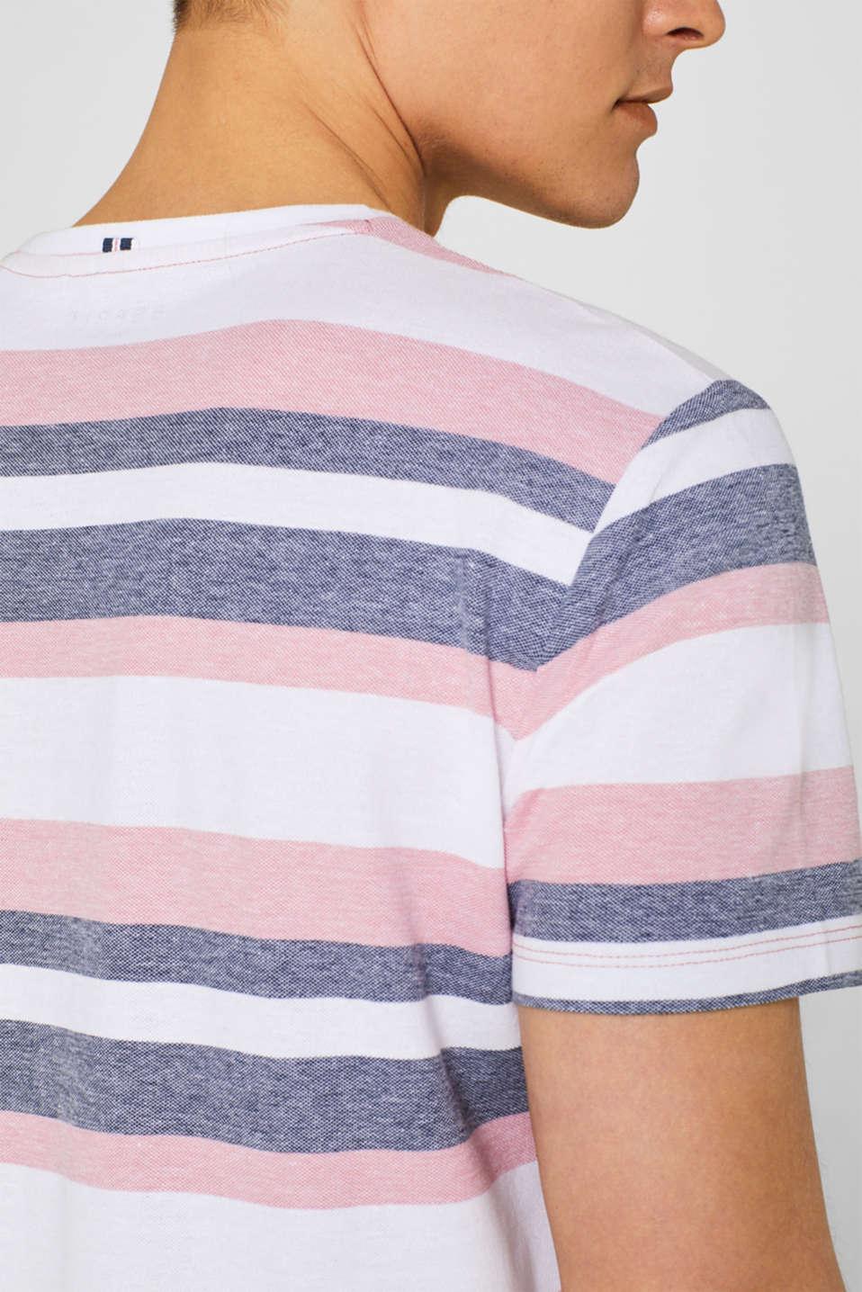 Piqué T-shirt with stripes, BLUSH, detail image number 1