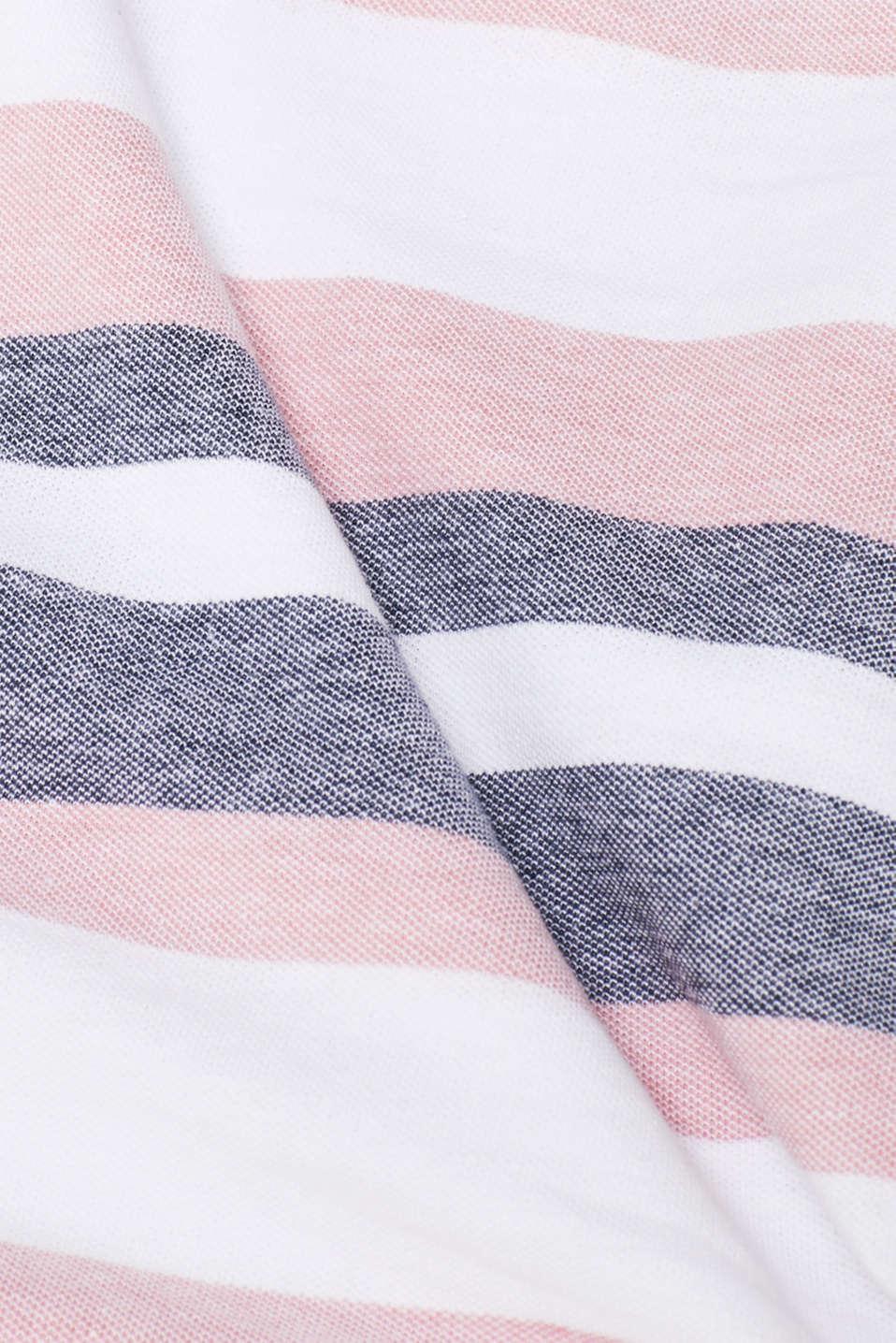 Piqué T-shirt with stripes, BLUSH, detail image number 5