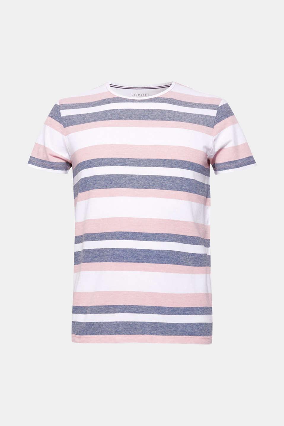 Piqué T-shirt with stripes, BLUSH, detail image number 6