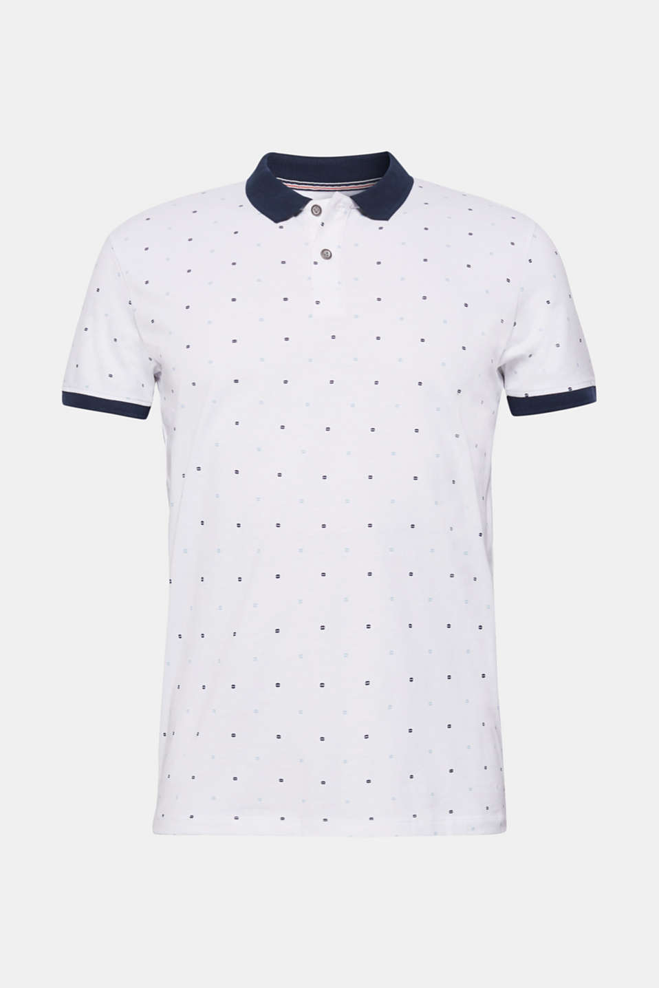Jersey polo shirt in 100% cotton, WHITE, detail image number 5