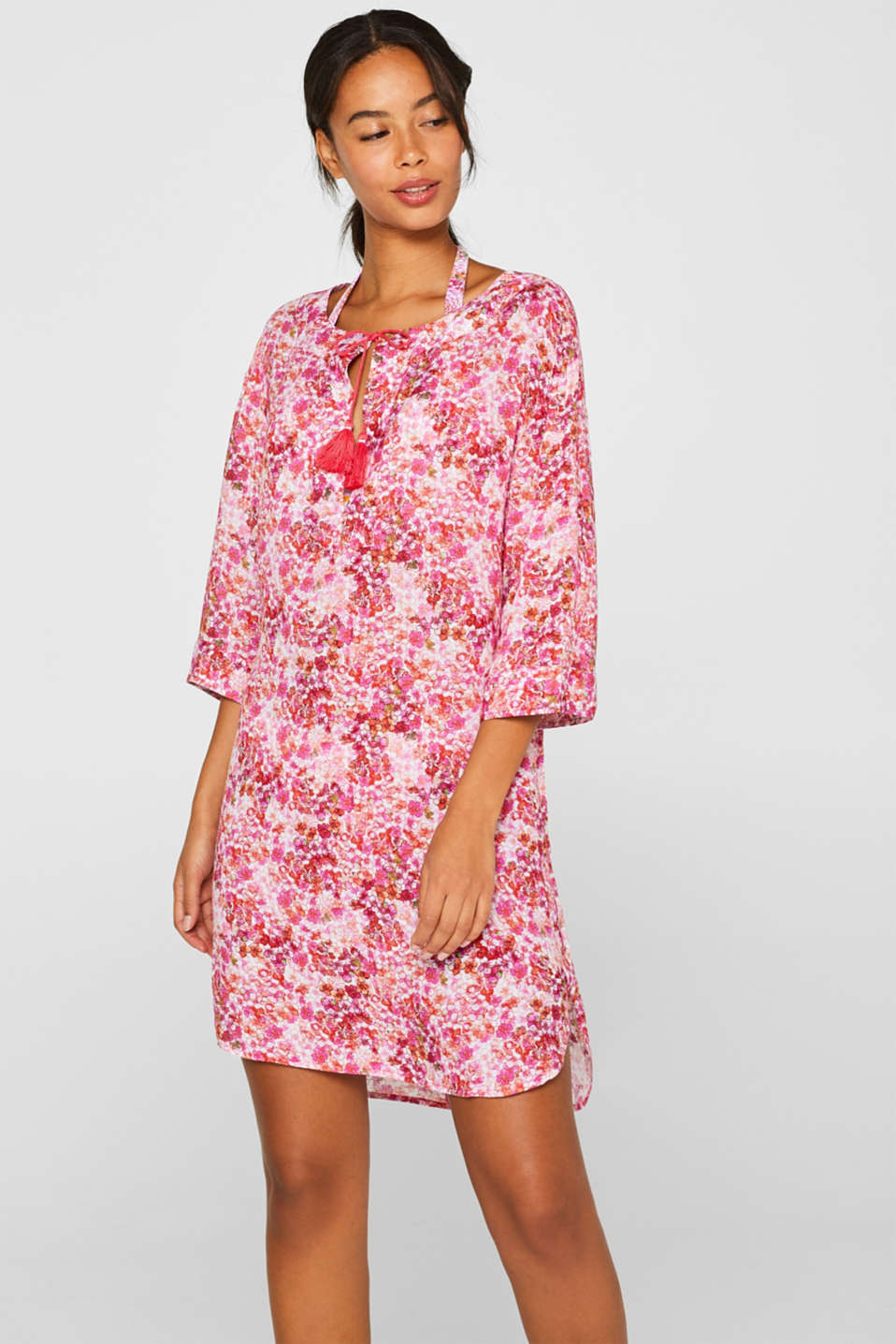 Esprit - Tunic dress with a floral print