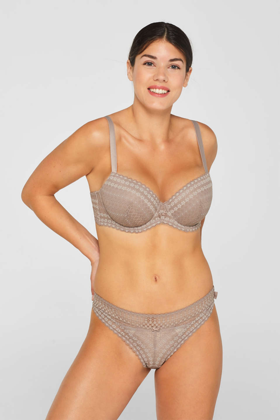 Esprit - Padded big cup underwire lace bra