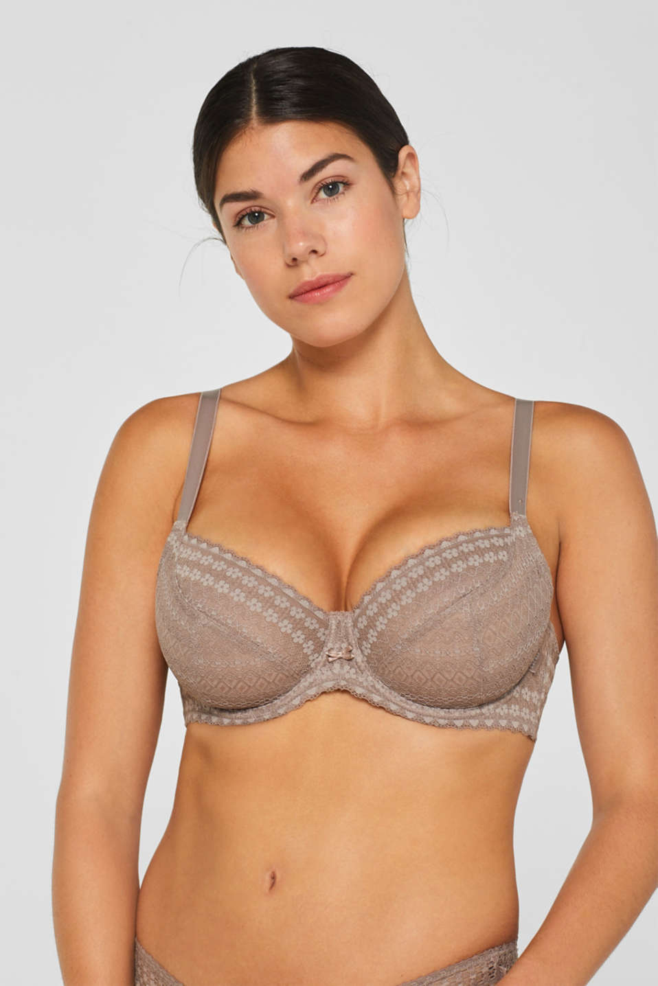 Bras with wire, TAUPE, detail image number 2