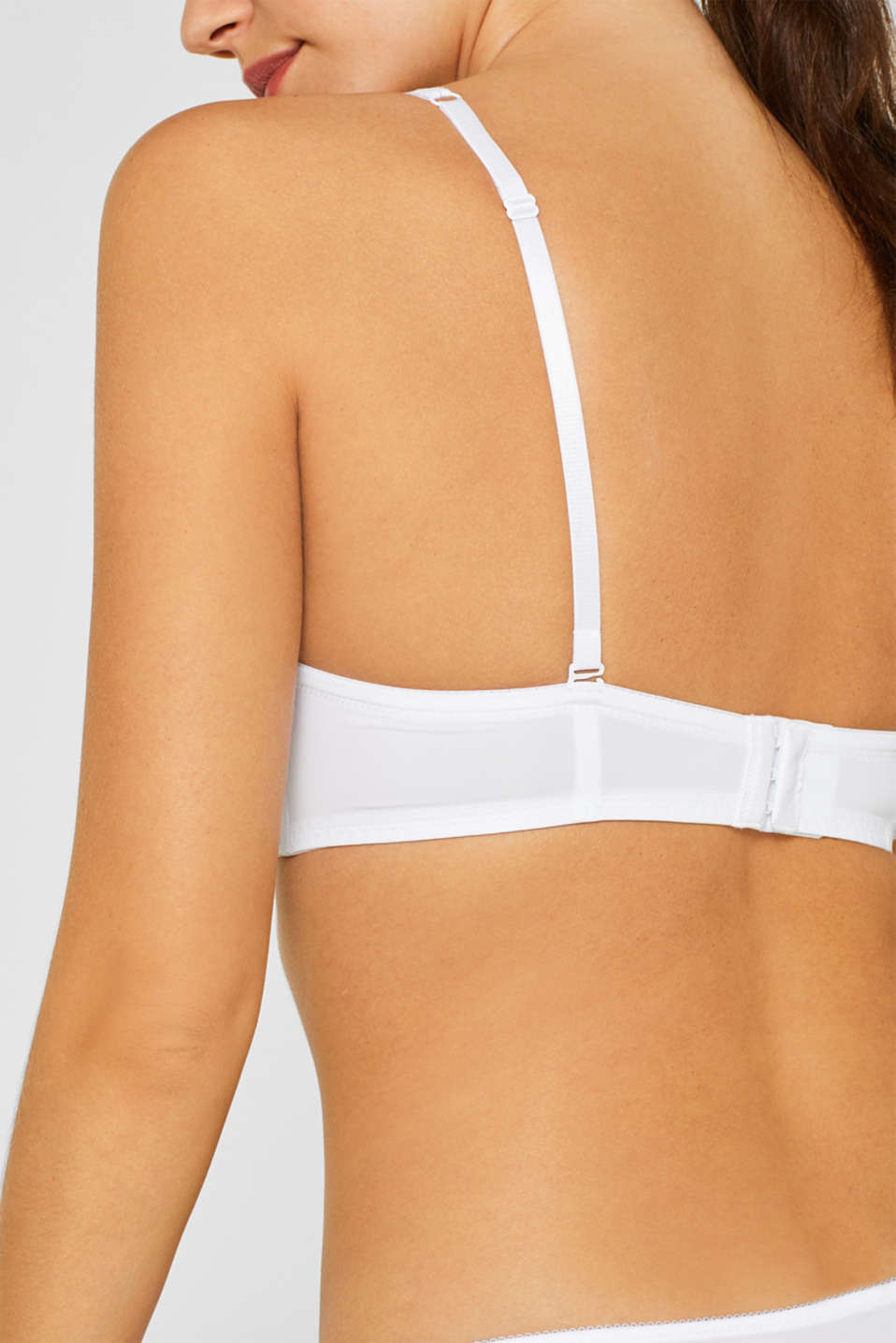 Padded underwire bra with detachable straps, WHITE, detail image number 3