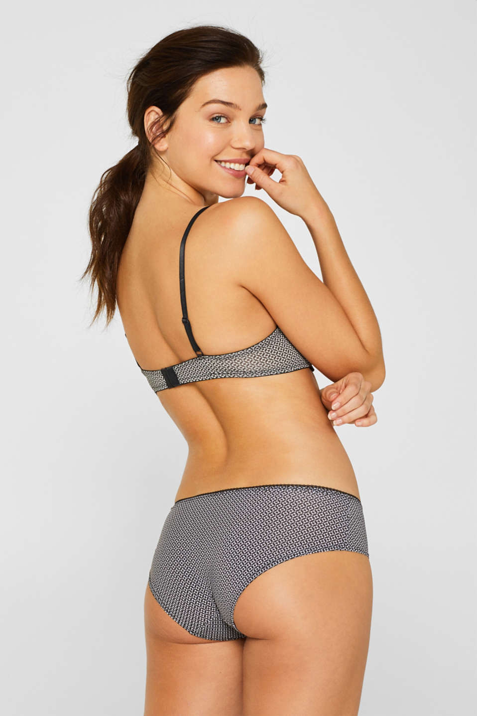 Bras with wire, GREY, detail image number 1