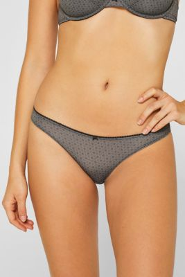 Hipster briefs with a floral print