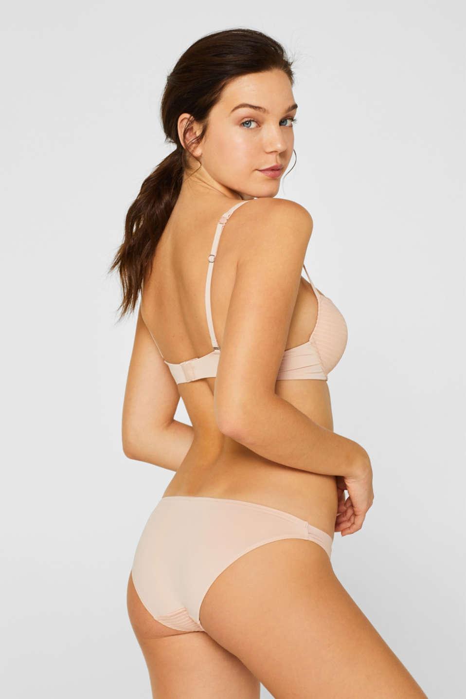 NYE push-up bra with textured stripes, PASTEL ORANGE, detail image number 1