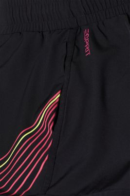Shorts with striped prints, E-DRY