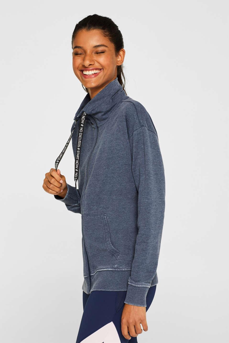 Sweatshirts cardigan, NAVY, detail image number 4