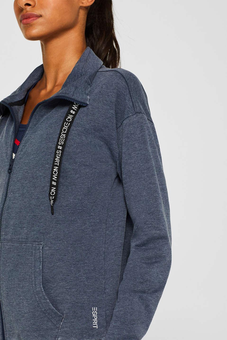 Sweatshirts cardigan, NAVY, detail image number 1