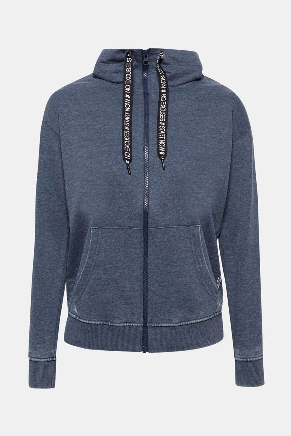 Sweatshirts cardigan, NAVY, detail image number 5