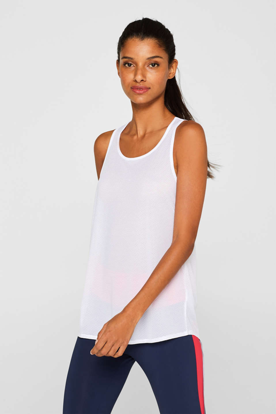 Esprit - Mesh top with stretch and a racer back, E-DRY