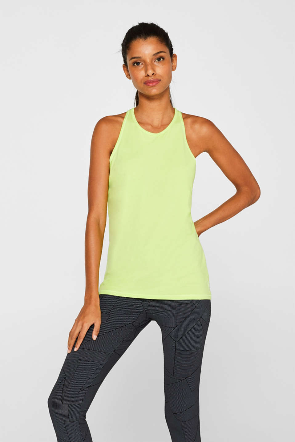 Esprit - Stretch top with a fashionable racer back