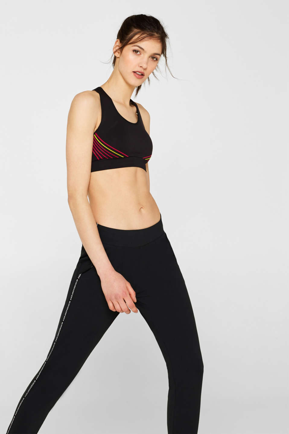 Esprit - Seamless sports bra with padded cups, E-DRY