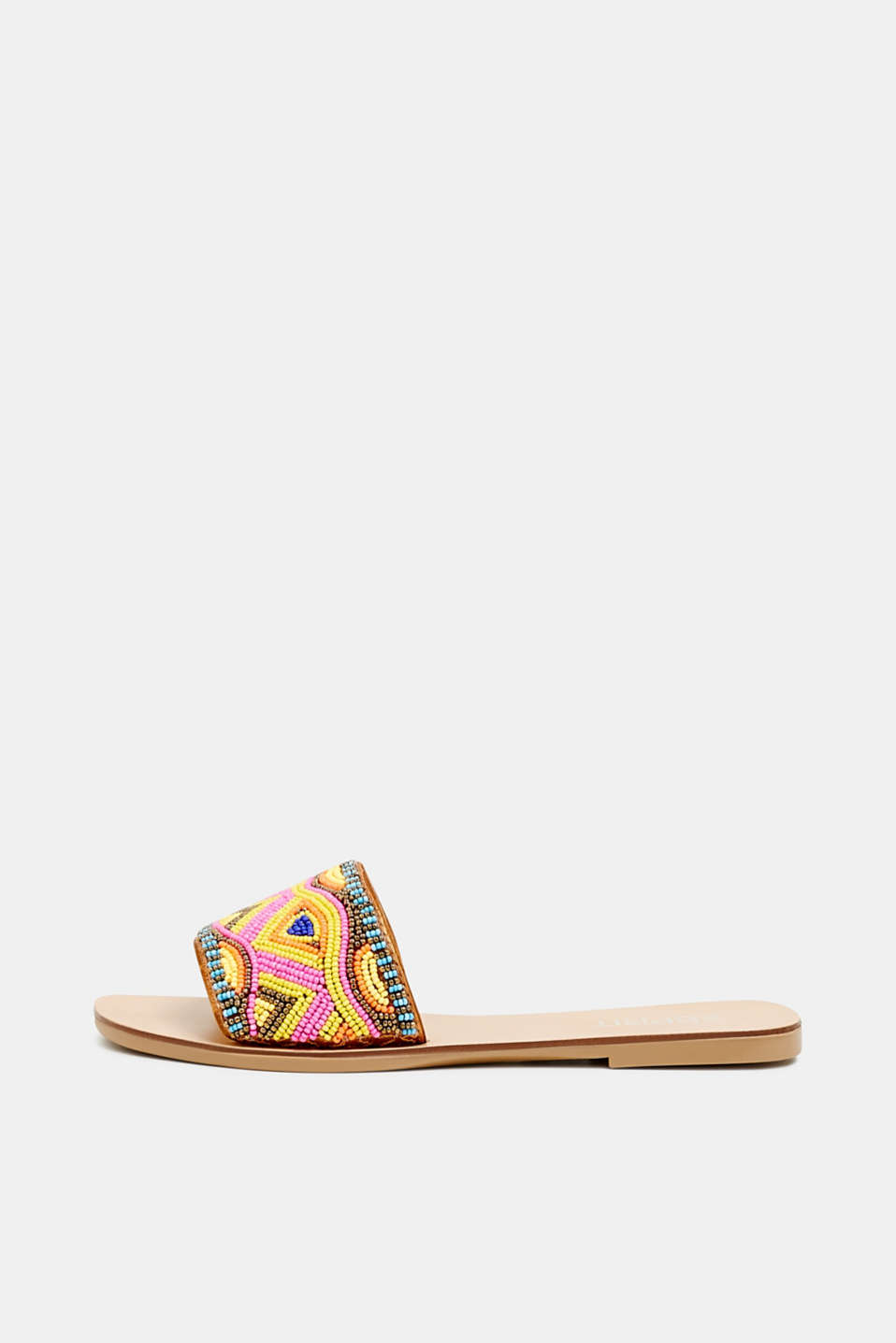 Esprit - Slip-on sandals with appliquéd beads