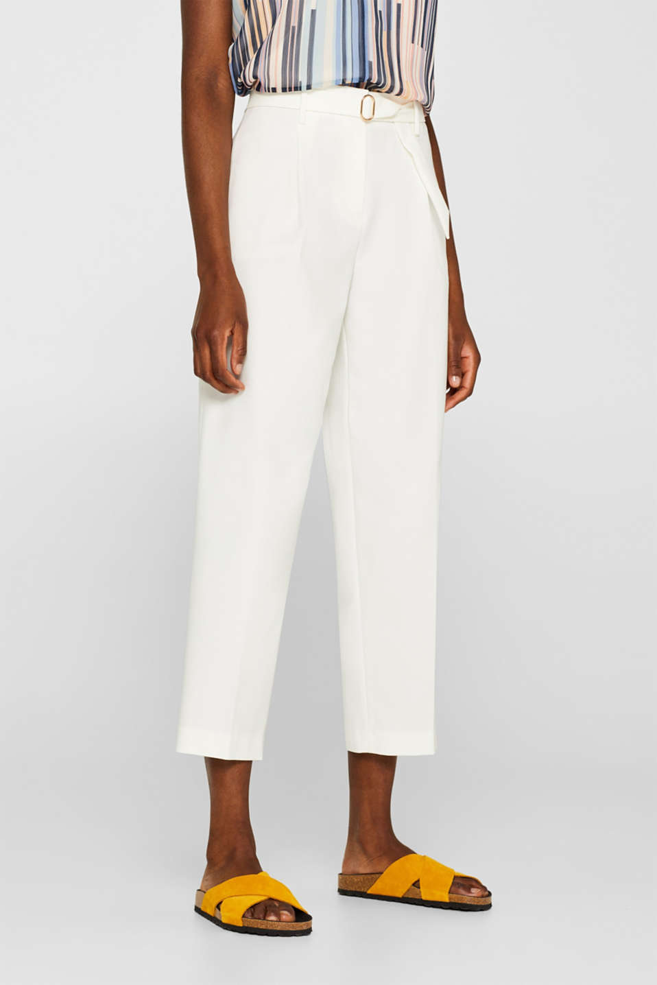 Pants woven, OFF WHITE, detail image number 6