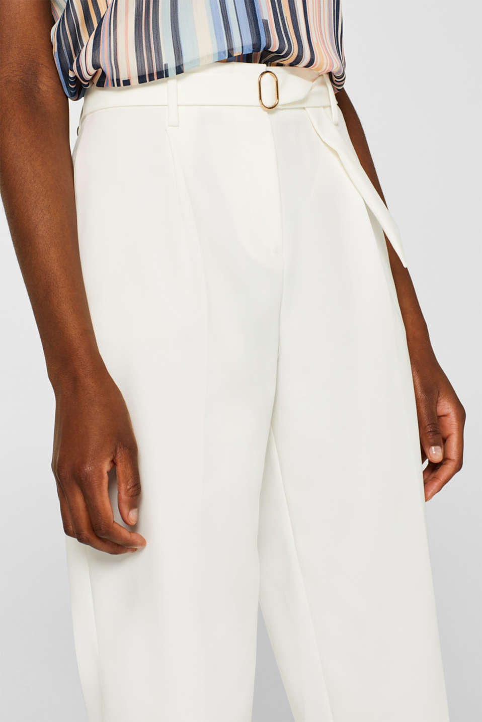 Pants woven, OFF WHITE, detail image number 2