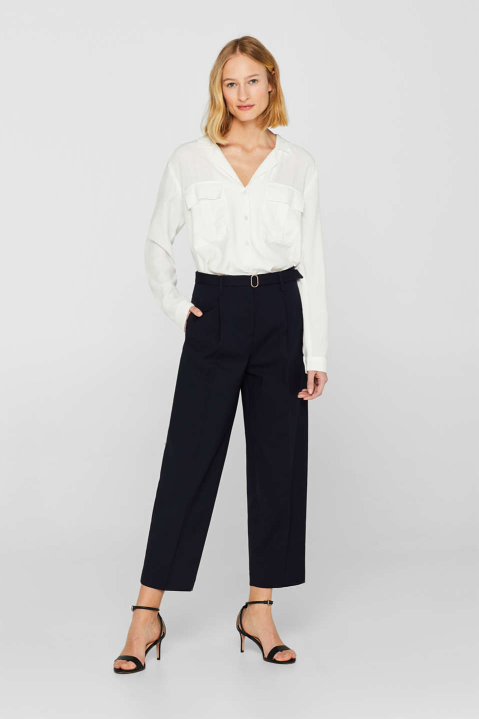 Culottes with a belt and added stretch for comfort