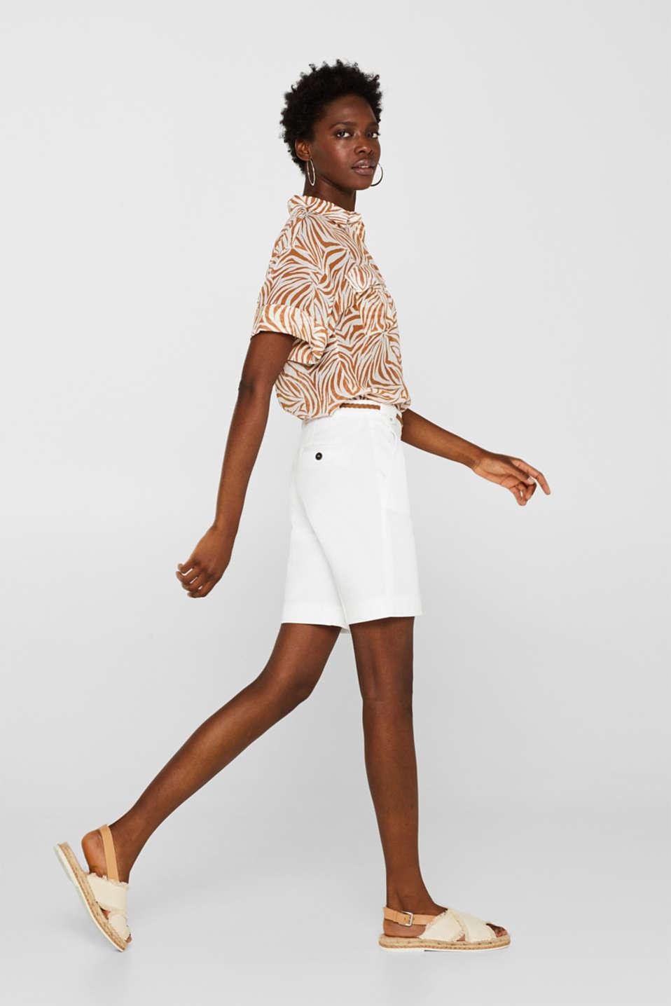 Shorts woven, WHITE, detail
