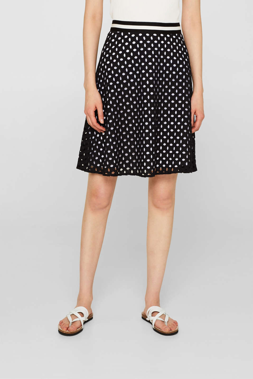 Skirts light woven, BLACK, detail image number 5