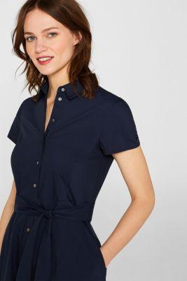 b94c8fd27506 Esprit - Stretchig skjortblusklänning med brett knytskärp i Esprits ...