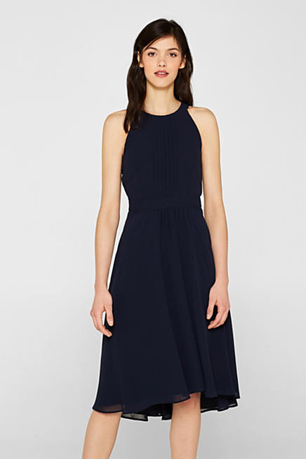 2840abc5b3 Chiffon dress with cut-away shoulders