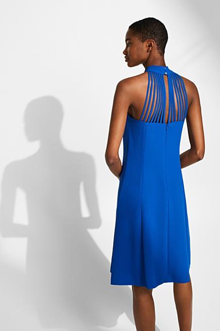 def44fa8d96 Crêpe-Kleid mit raffinierter Rückseite und Stretch