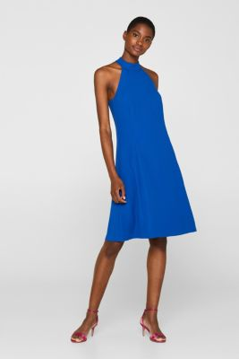 ed72529e46b Esprit - Crêpe-Kleid mit raffinierter Rückseite und Stretch im ...
