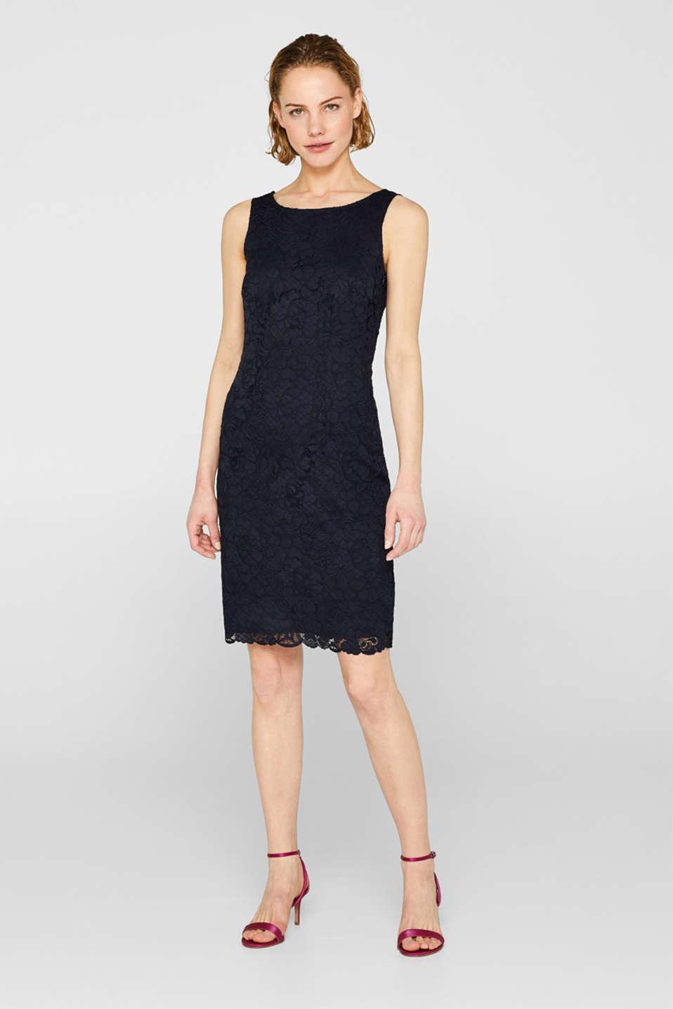 Dresses light woven, NAVY, detail image number 1