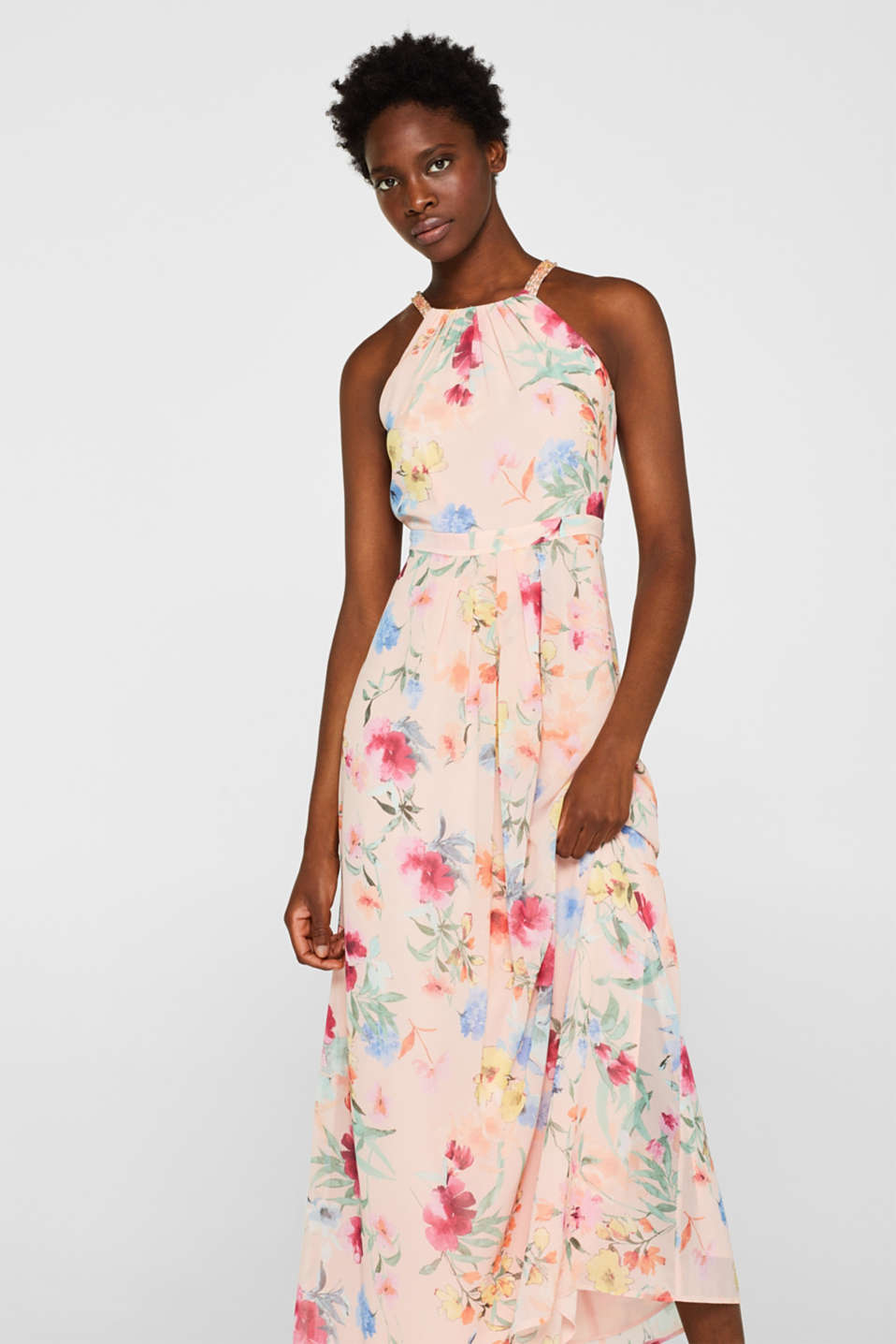 Esprit - Floral printed chiffon maxi dress