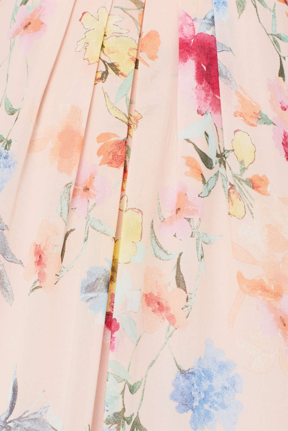 Floral printed chiffon maxi dress, PEACH, detail image number 4