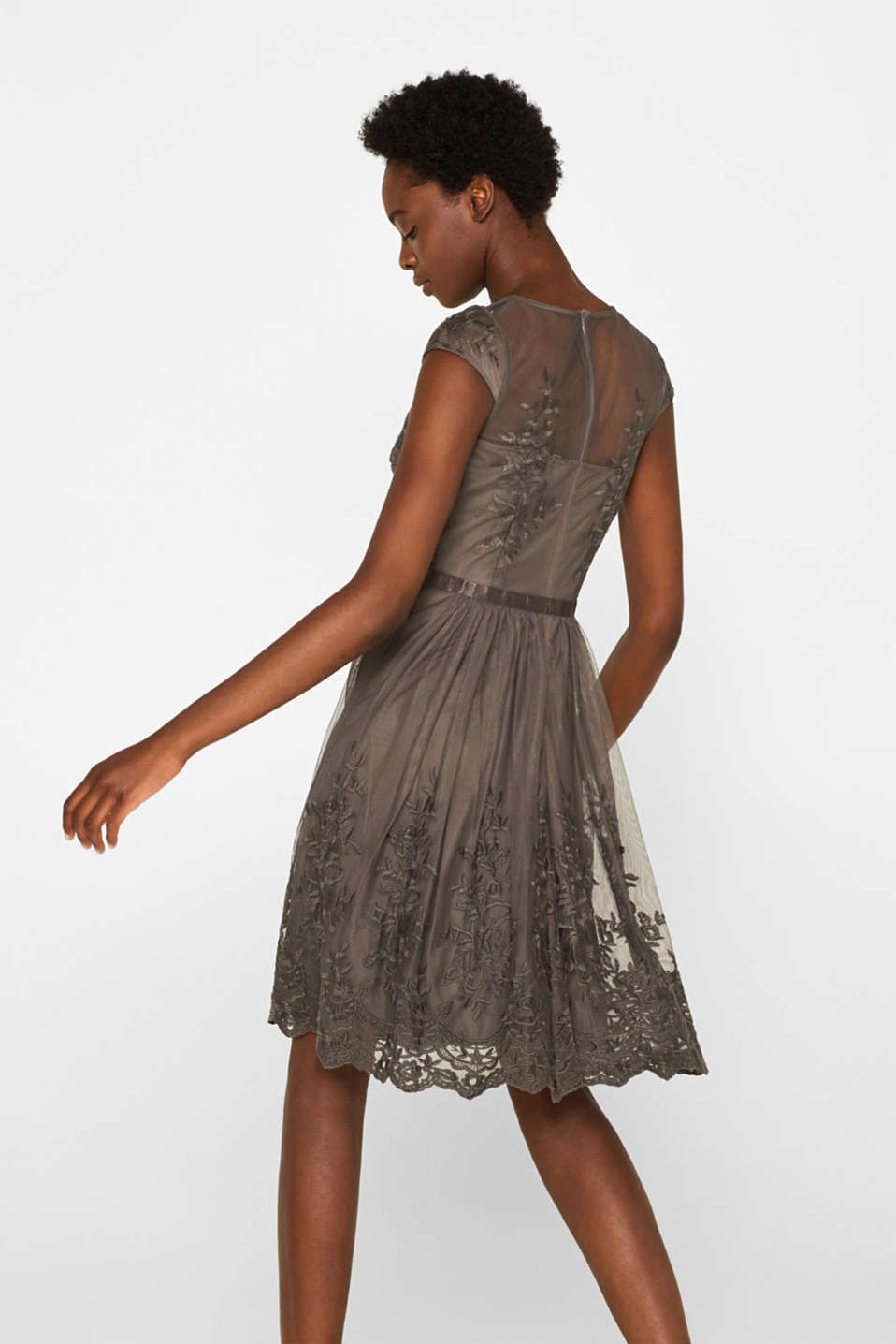 Dresses knitted, TAUPE, detail image number 2