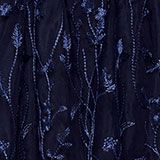 Chiffon maxi dress with floral embroidery, NAVY, swatch