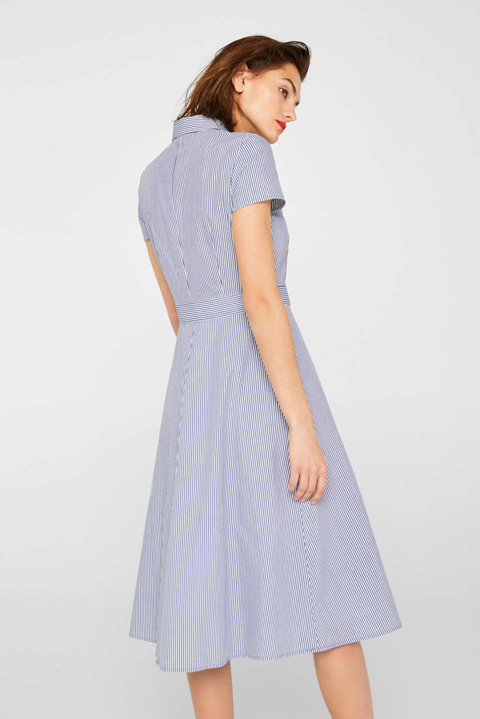 Shirt dress with stretch and stripes, LIGHT BLUE, detail image number 2