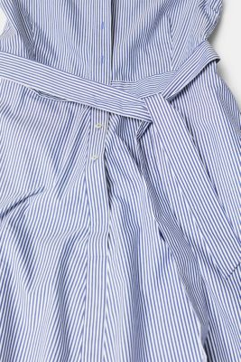Shirt dress with stretch and stripes, LIGHT BLUE, detail