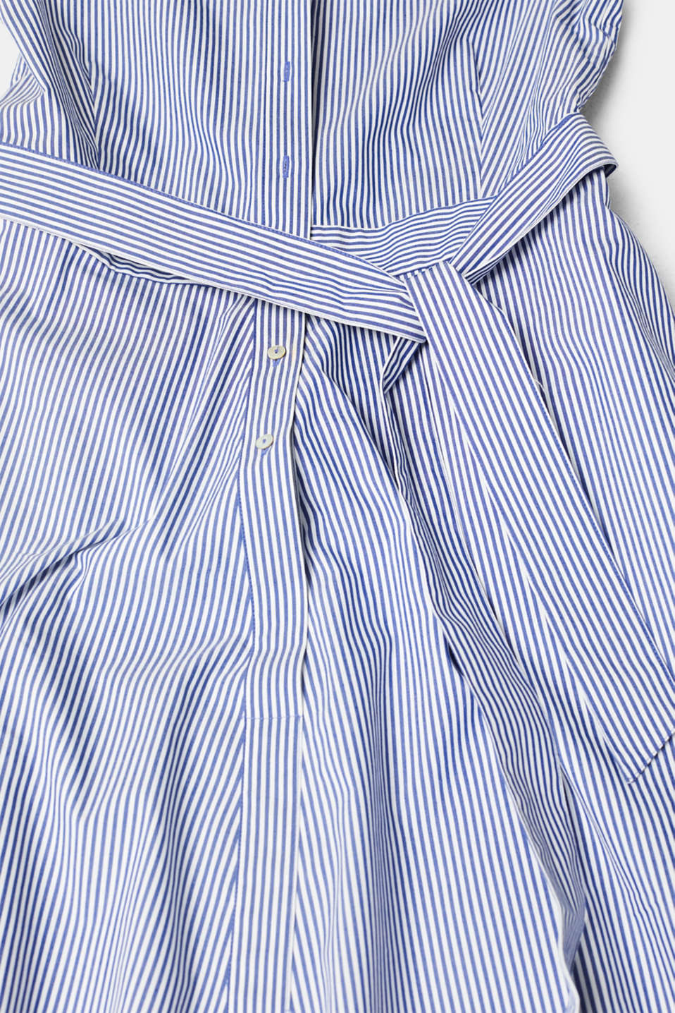Shirt dress with stretch and stripes, LIGHT BLUE, detail image number 4