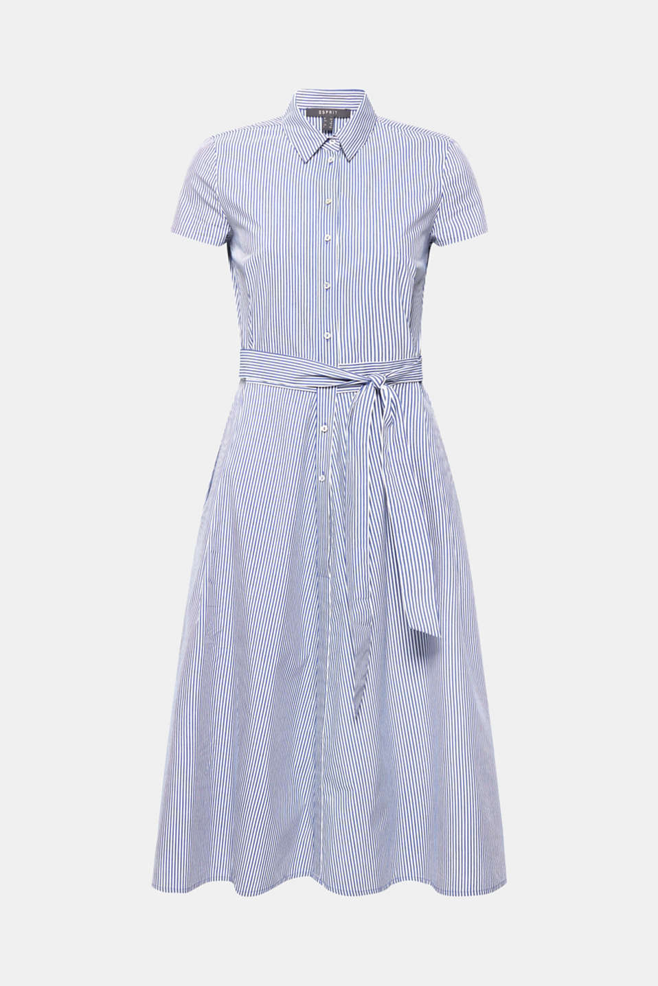 Shirt dress with stretch and stripes, LIGHT BLUE, detail image number 5